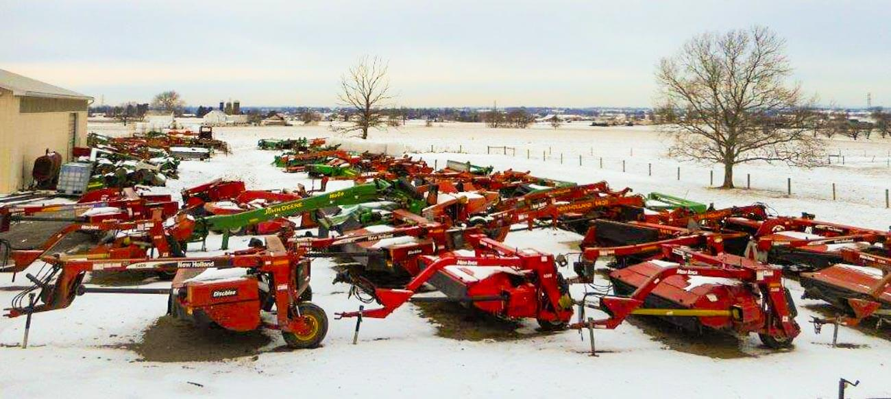 Used equipment yard at discmower doctor